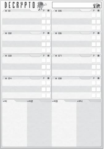 photograph about Clue Replacement Sheets Printable identify Decrypto Le Scorpion Masqué