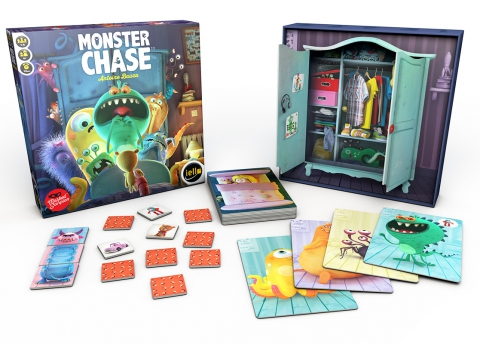 Monster Chase - Box and material